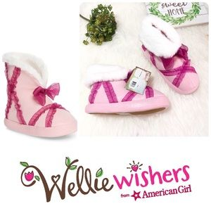 WellieWishers American Girl Emerson Faux Slipper
